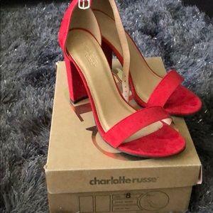 Red heels like new!